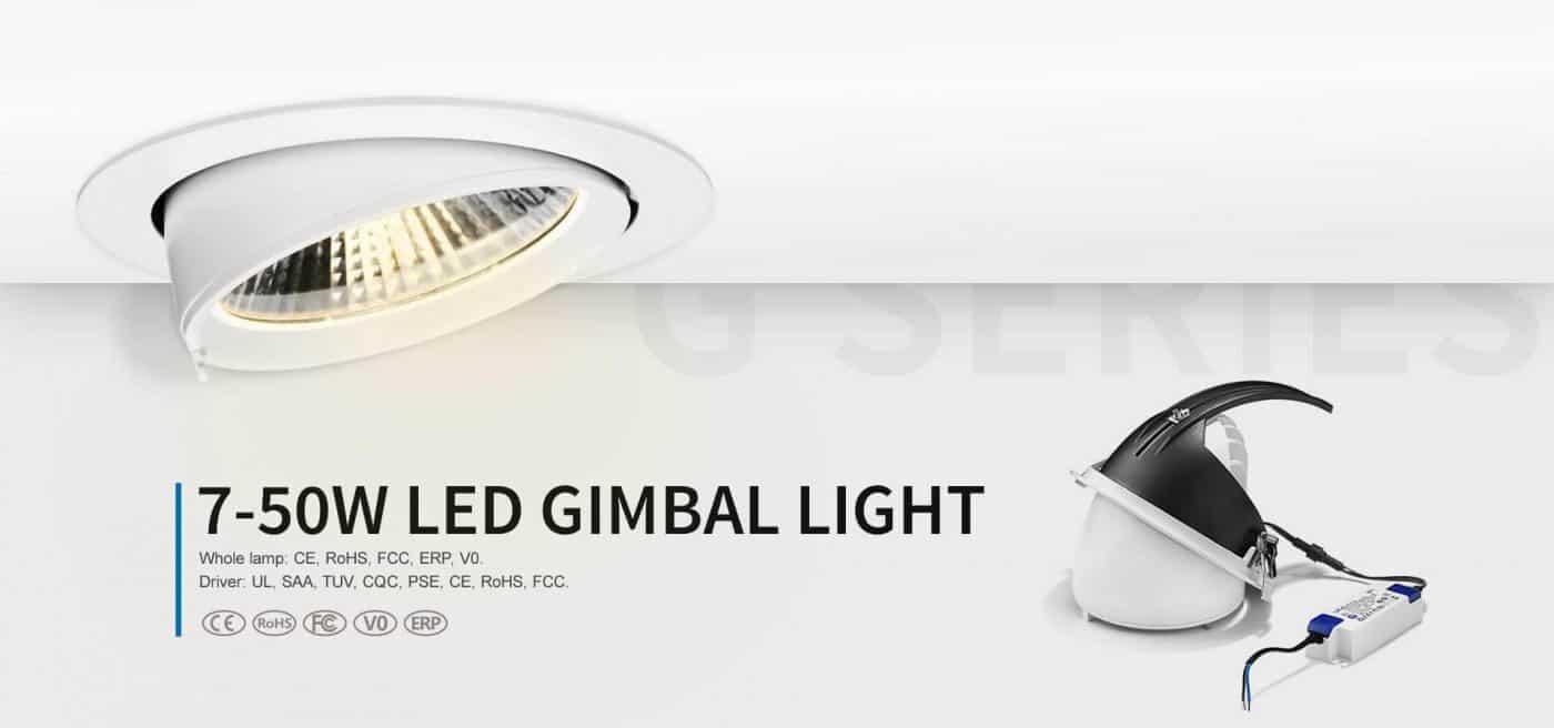 đèn led âm trần xoay góc 360