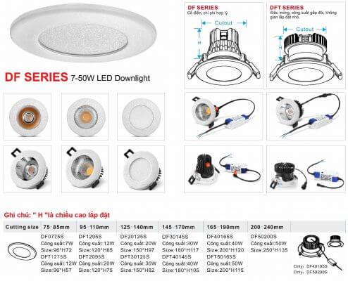 Df- series - mẫu đèn led âm trần cao cấp