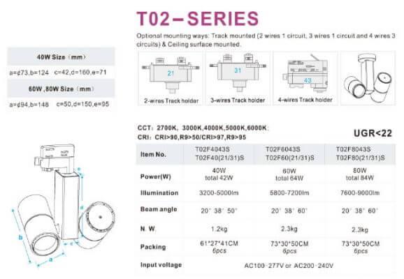 Đèn led thanh ray T02
