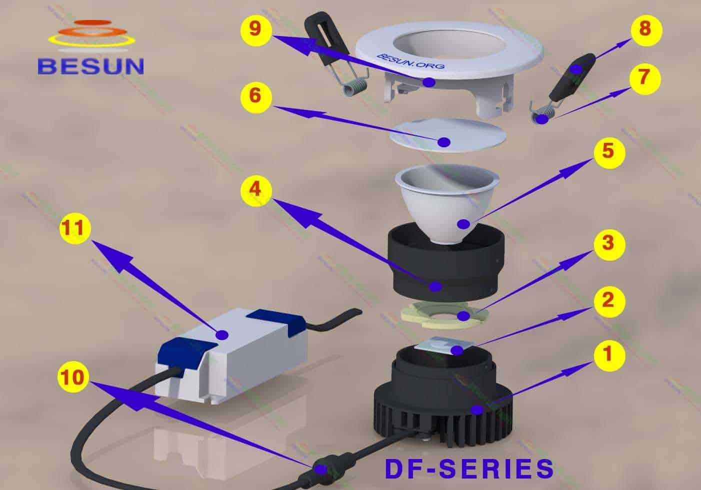cấu tạo đèn led âm trần cao cấp