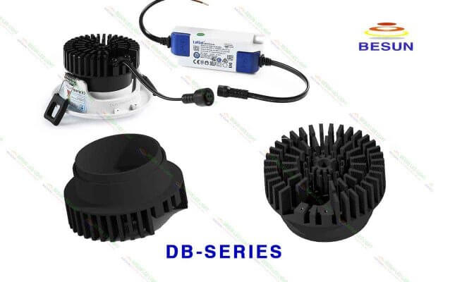 Tản nhiệt cho đèn led âm trần xoay góc DB-Series