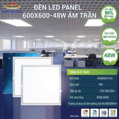 Đèn led panel 600x600 48w Besun led light