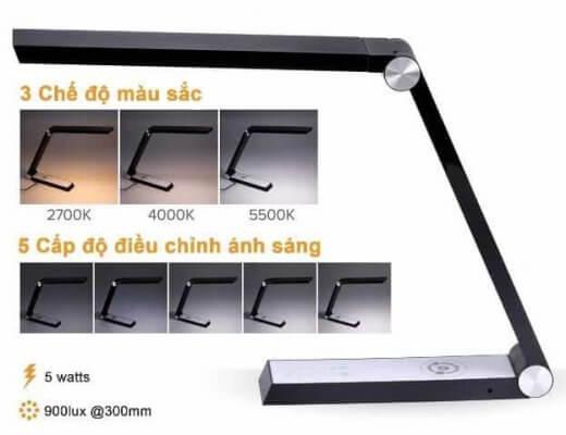 Đèn bàn học chống cận có thể điều chỉnh với 35 cấp độ & màu sắc khác nhau