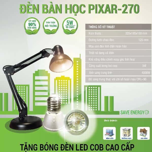 Đèn bàn học Pixar BT-270
