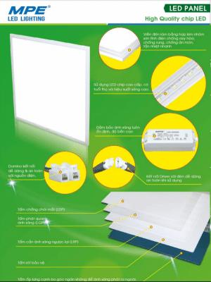 Cấu tạo đèn led panel 600x600 MPE