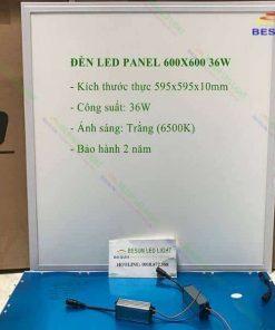 Đèn led panel 600x600 36W 6500K