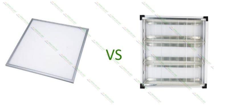 Đèn máng âm trần 600x600 và đèn led panel 600x600